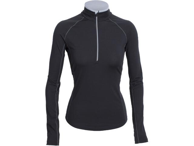 Icebreaker Zone LS Half Zip Shirt Dam black/mineral/mineral